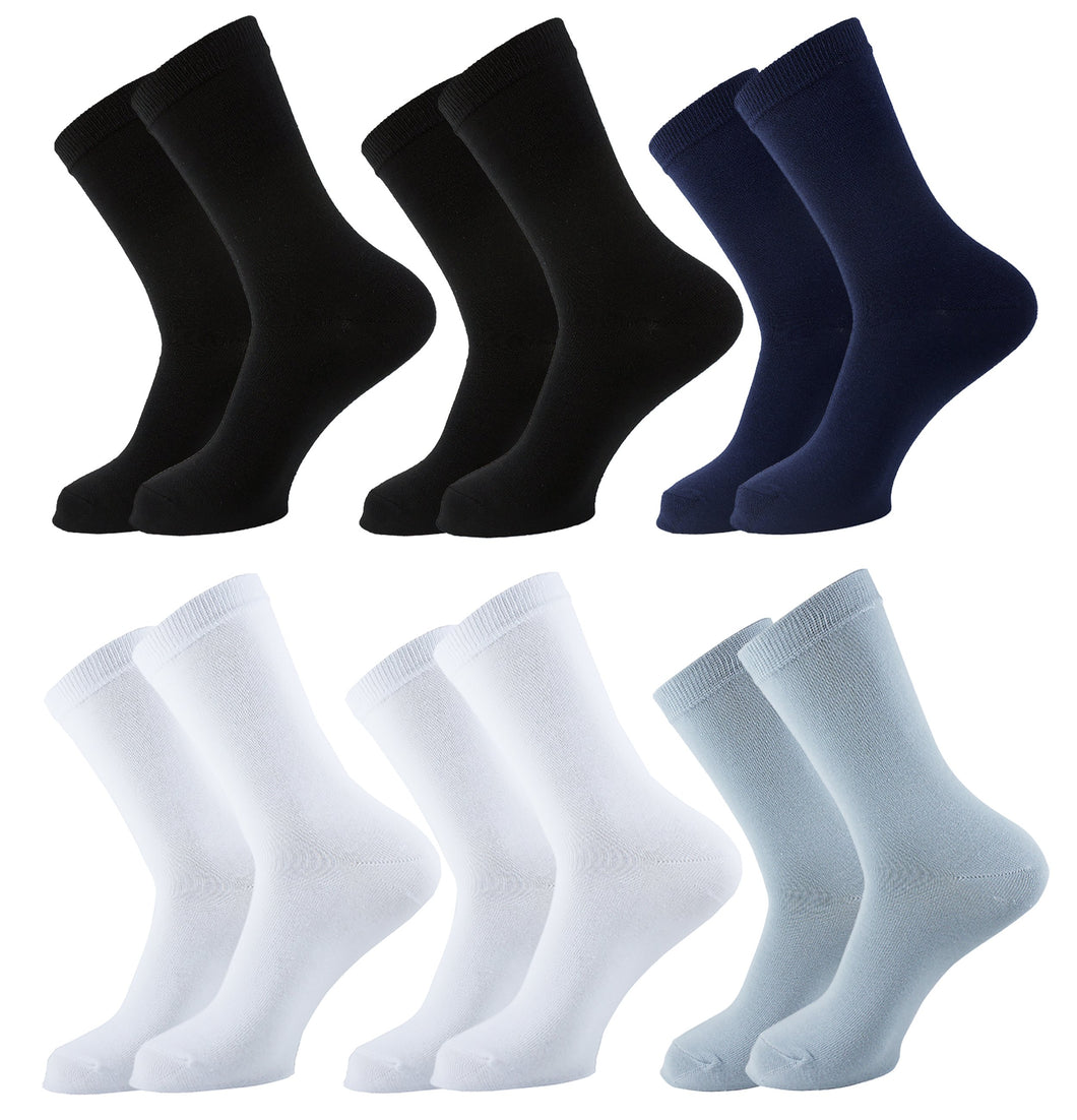 Plain Women Socks - Assorted - 6 Pack