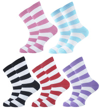 Load image into Gallery viewer, Striped Women Socks - Assorted - 5 Pack
