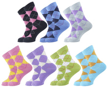 Load image into Gallery viewer, Argyle Women Socks - Assorted - 7 Pack