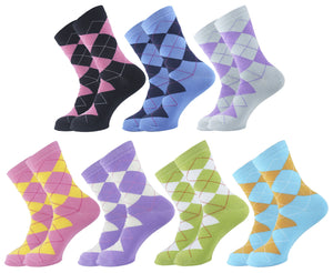 Argyle Women Socks - Assorted - 7 Pack