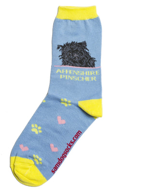 Affenpinscher Dog Socks - samnoveltysocks.com