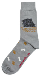 Affenpinscher Dog Socks Mens - samnoveltysocks.com