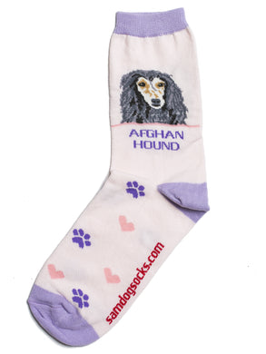Afghan Hound Dog Socks - samnoveltysocks.com