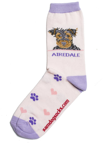 Airedale Dog Socks - samnoveltysocks.com