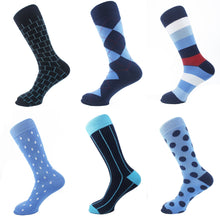 "Load image into Gallery viewer, Assorted Pattern Men Socks ""6 Pair Pack"" - samnoveltysocks.com"