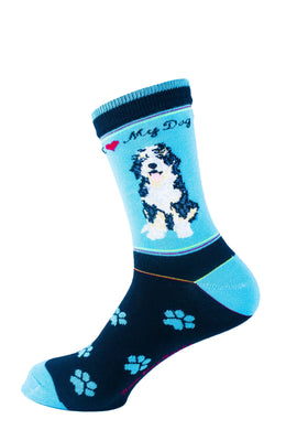 Aussiedoodle Dog Socks Signature - samnoveltysocks.com