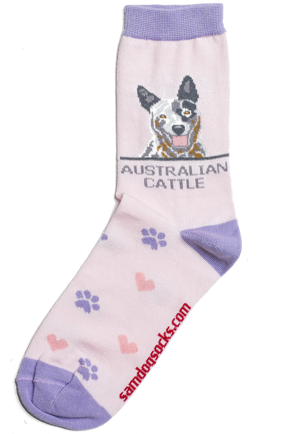Australian Cattle Dog Socks AKA Blue Heeler Dog - samnoveltysocks.com