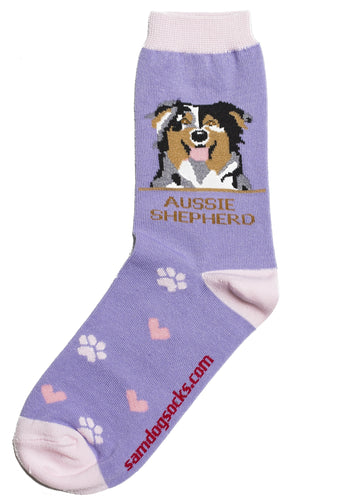 Australian Shepherd Dog Socks - samnoveltysocks.com