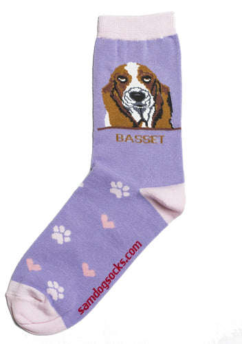 Basset Hound Dog Socks - samnoveltysocks.com