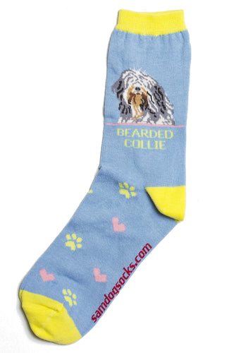 Bearded Collie Dog Socks - samnoveltysocks.com