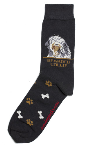 Bearded Collie Dog Socks Mens - samnoveltysocks.com