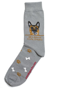Belgian Malinois Dog Socks Mens - samnoveltysocks.com