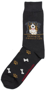Bernese Mountain Dog Socks Mens - samnoveltysocks.com