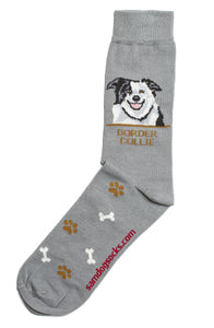 Border Collie Dog Socks Mens - samnoveltysocks.com