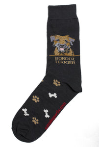 Border Terrier Dog Socks Mens - samnoveltysocks.com