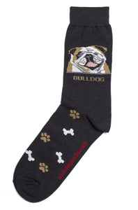 Bulldog Socks Mens - samnoveltysocks.com