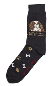 Cavalier King Charles Spaniel dog Socks Brown Mens - samnoveltysocks.com