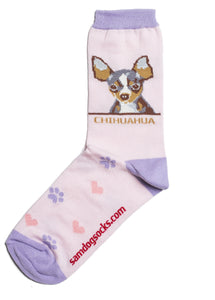 Chihuahua Brown Dog Socks - samnoveltysocks.com