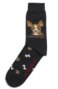 Chihuahua Brown Dog Socks Mens - samnoveltysocks.com