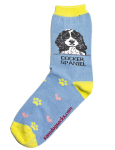 Cocker Spaniel Black Dog Socks - samnoveltysocks.com