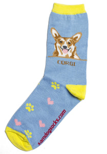 Corgi Brown Dog Socks - samnoveltysocks.com
