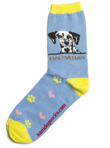 Dalmation Dog Socks - samnoveltysocks.com