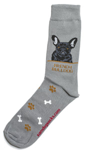 French Bulldog Black Socks Mens - samnoveltysocks.com