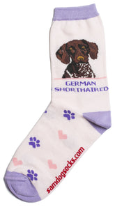 German Shorthaired pointer Dog Socks - samnoveltysocks.com
