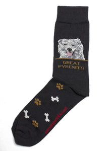 Great Pyrenees Dog Socks Mens - samnoveltysocks.com