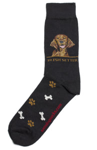 Irish Setter Dog Socks Mens - samnoveltysocks.com