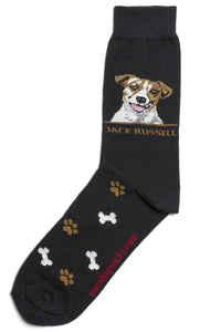 Jack Russell Dog Socks Mens - samnoveltysocks.com