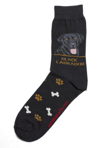 Labrador Black Socks Mens - samnoveltysocks.com