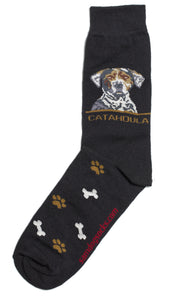 Louisiana Catahoula Leopard Dog Socks Mens - samnoveltysocks.com