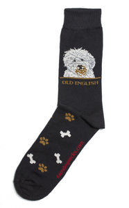 Old English Sheepdog Socks Mens - samnoveltysocks.com