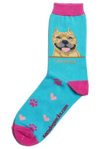 Pit Bull Terrier Brindle Dog Socks - samnoveltysocks.com