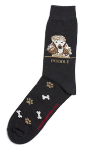 Poodle Brown Dog Socks Mens - samnoveltysocks.com