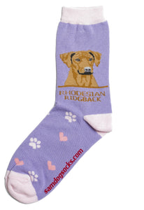 Rhodesian Ridgeback Dog Socks - samnoveltysocks.com