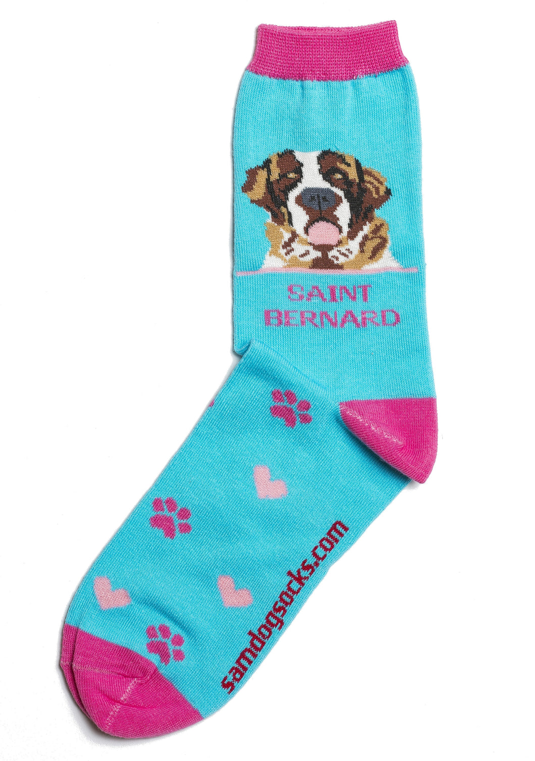 Saint Bernard Dog Socks - samnoveltysocks.com