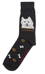 Samoyed Dog Socks Mens - samnoveltysocks.com