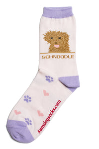 Schnoodle Dog Socks - samnoveltysocks.com