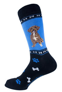 Schnoodle Dog Socks Mens Signature