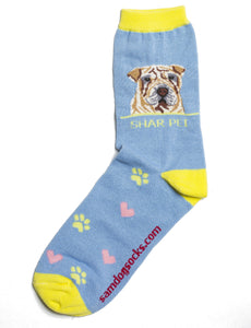 Shar Pei Dog Socks - samnoveltysocks.com