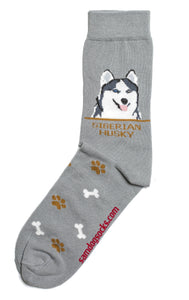 Siberian Husky Dog Socks Mens - samnoveltysocks.com