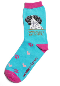 Spaniel Black Dog Socks - samnoveltysocks.com