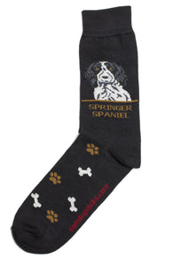 Springer Spaniel Black Dog Socks Mens - samnoveltysocks.com