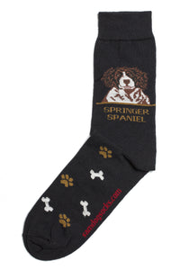 Springer Spaniel Brown Dog Socks Mens - samnoveltysocks.com
