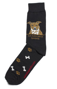 Staffordshire Bull Terrier Dog Socks Mens - samnoveltysocks.com