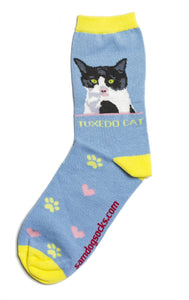 Tuxedo Cat Socks - samnoveltysocks.com