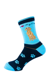 Vizsla Dog Socks Signature - samnoveltysocks.com