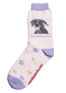 Weimaraner Dog Socks - samnoveltysocks.com